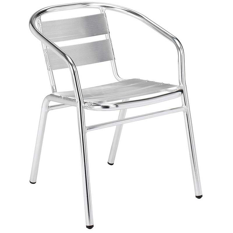 Aluminium bistro chair