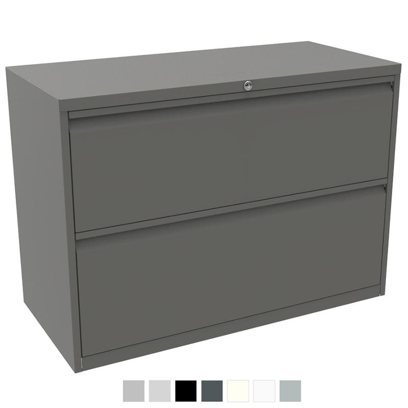Dark grey office filing storage