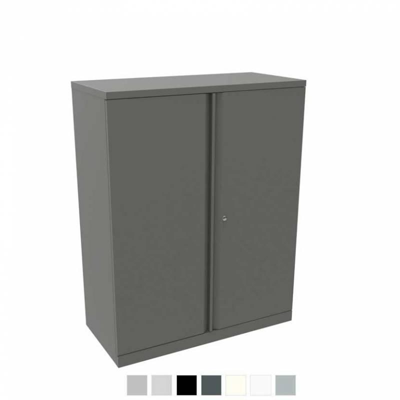 Grey storage cupboard