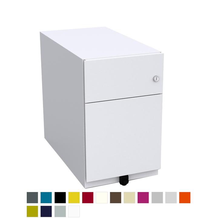 White desk pedestal