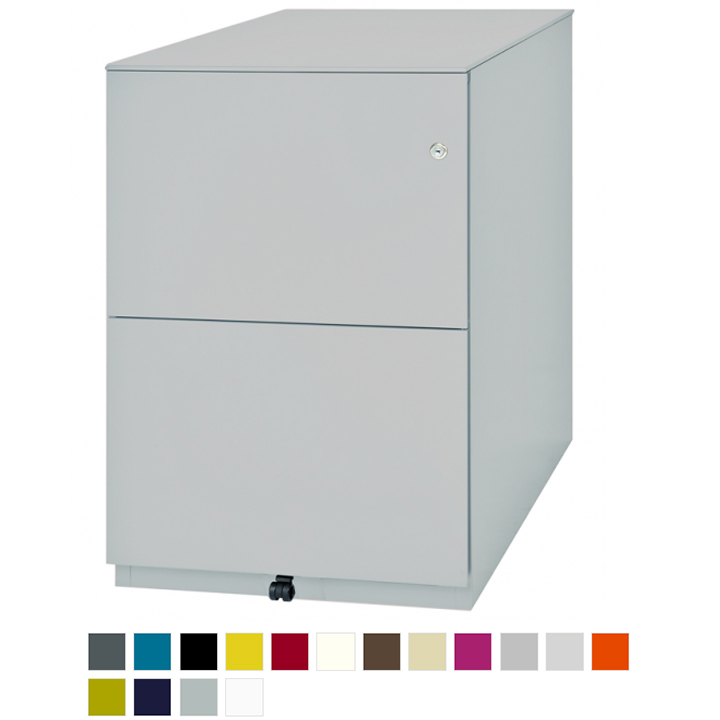 Grey desk pedestal