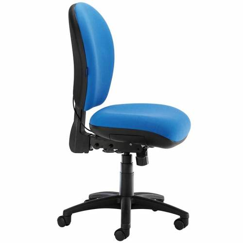 Blue desk chair with swivel base