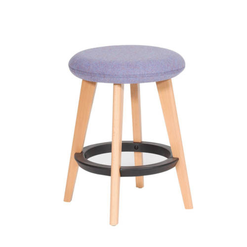 Gem stool with wooden legs and blue seat