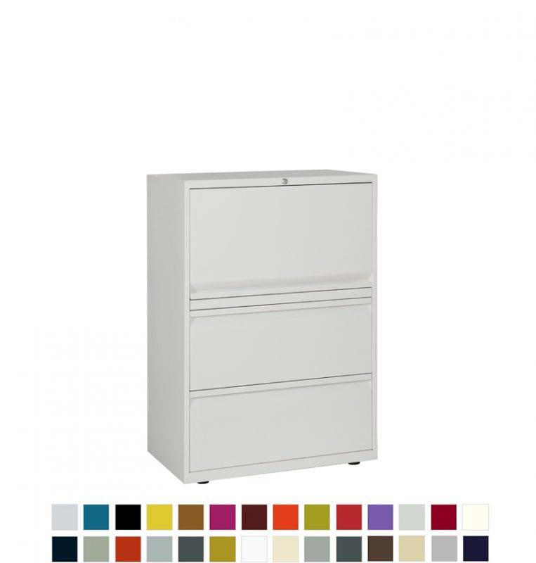 White filing and storage unit