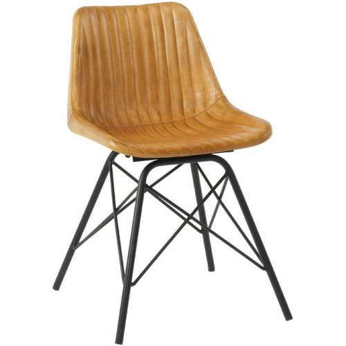 Bistro style chair with ribbed effect