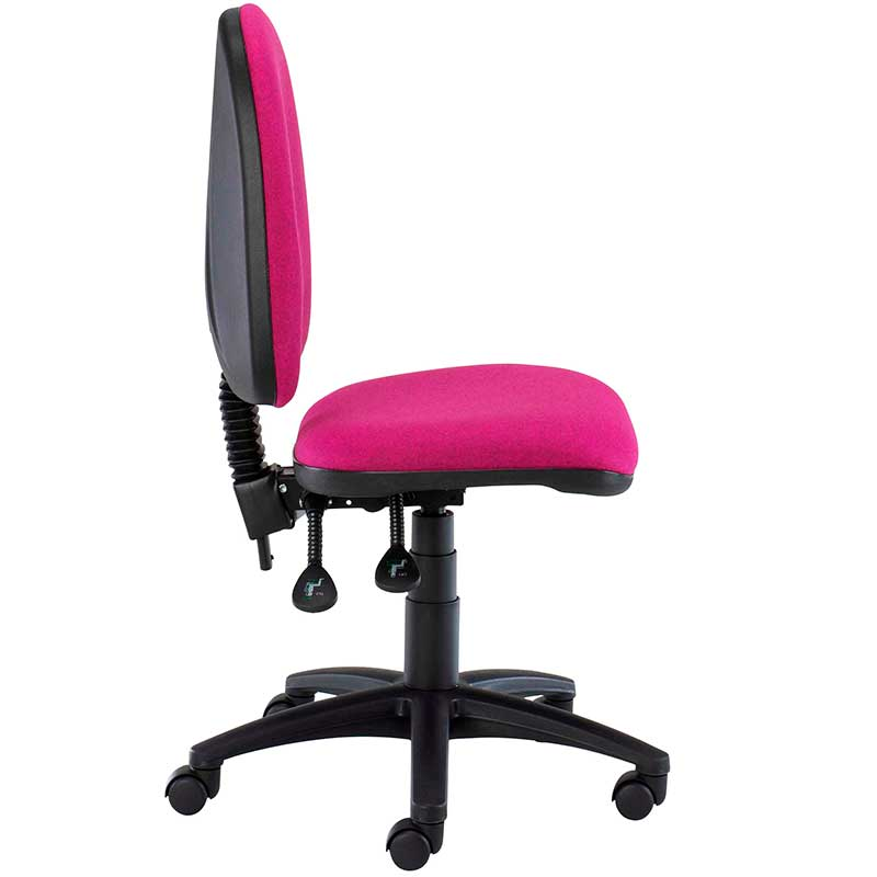 Pink desk chair with swivel base