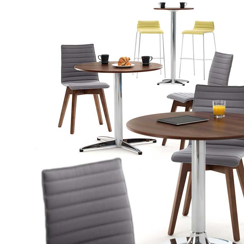 A range of bistro tables, chairs and stools