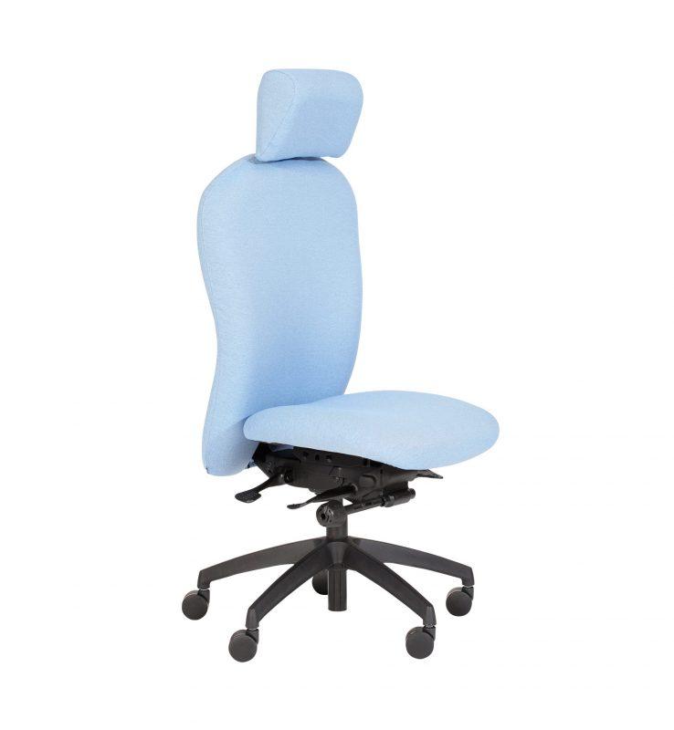 Pale blue Posturemax task chair