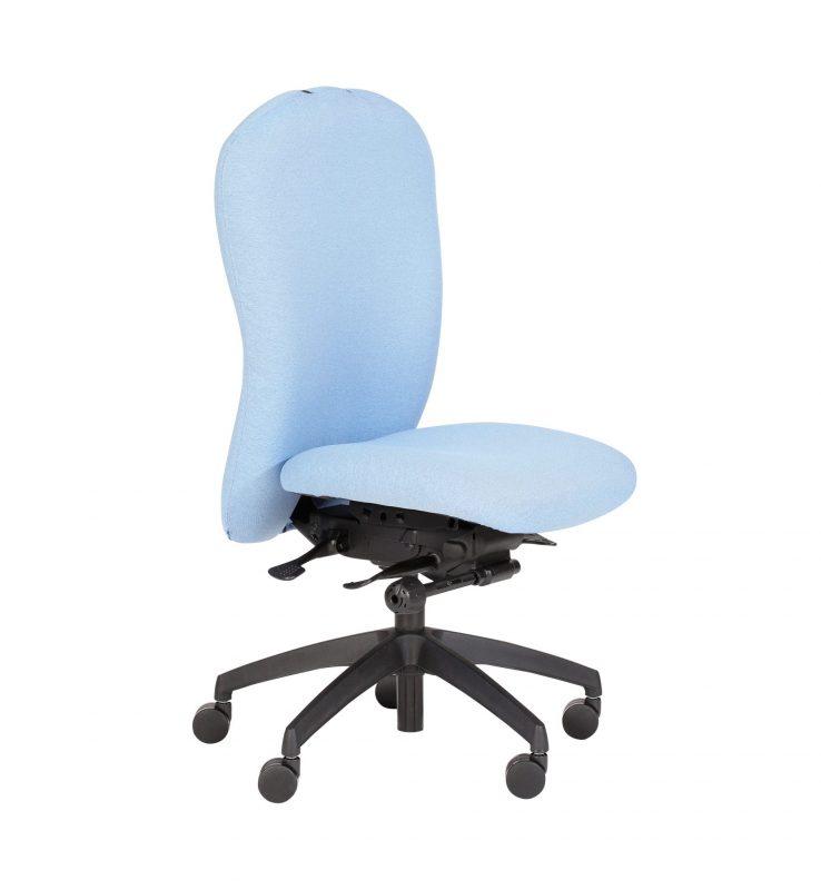 Pale blue Posturemax chair