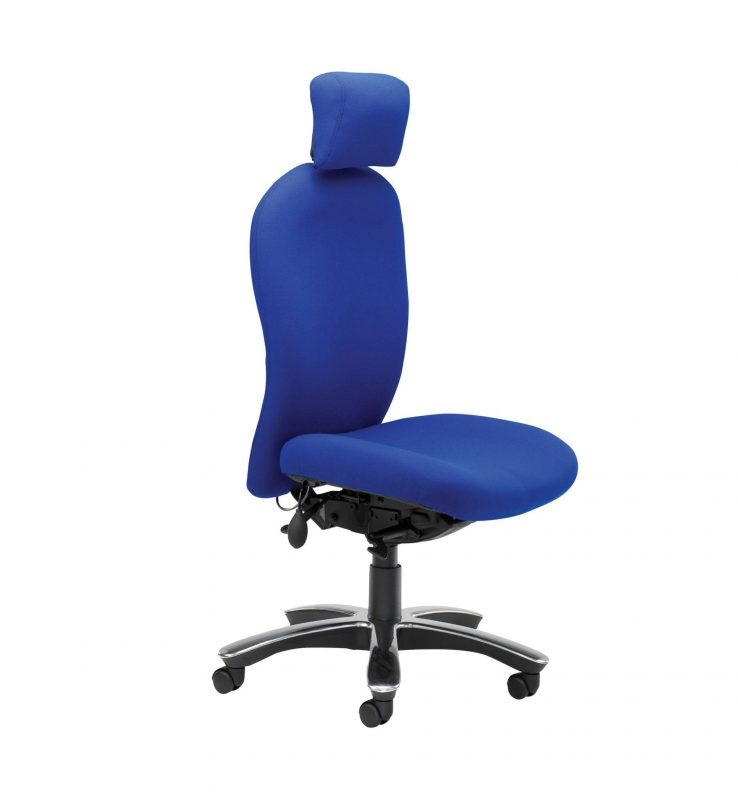 Blue Posturemax 200 with headrest