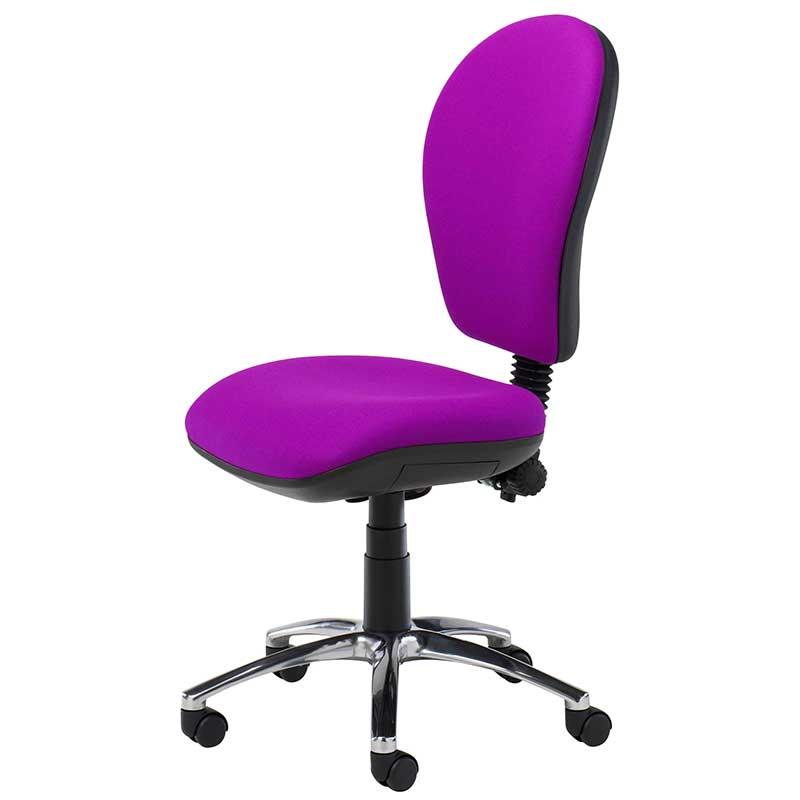 Purple desk chair with swivel base