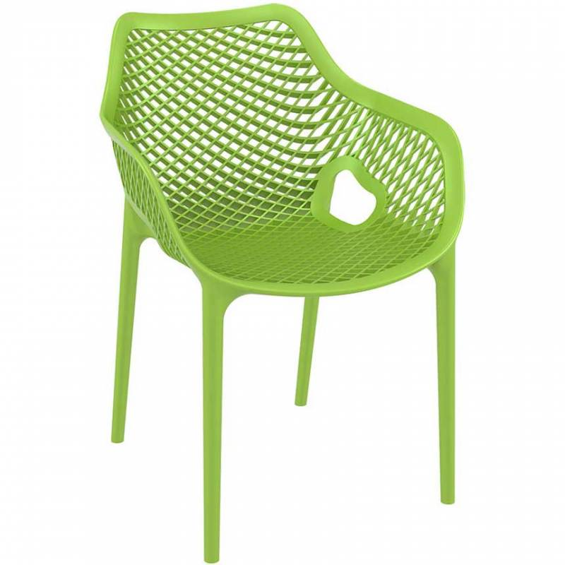 Green chair with mesh effect on seat and back