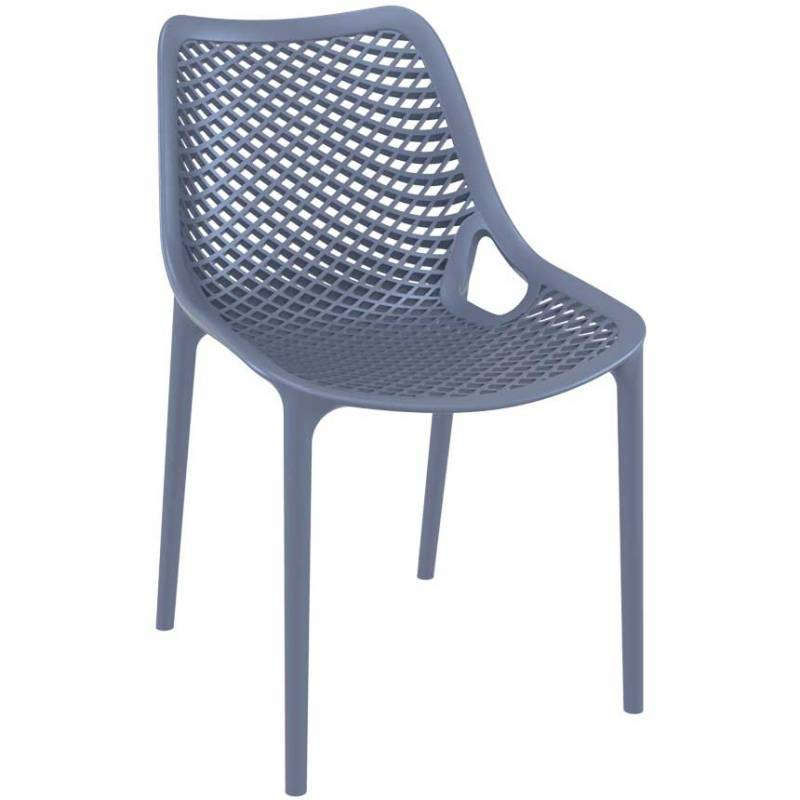 Anthracite chair with mesh effect on seat and back