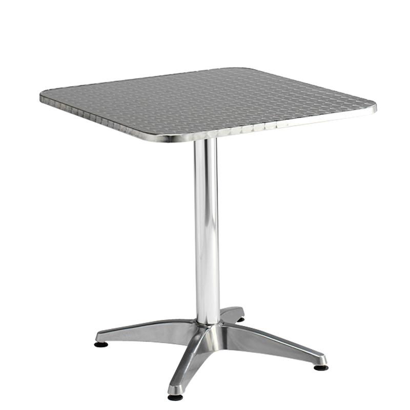 Square silver bistro table