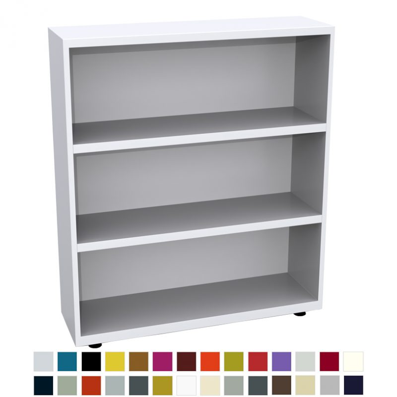 White bookcase with 3 shelves