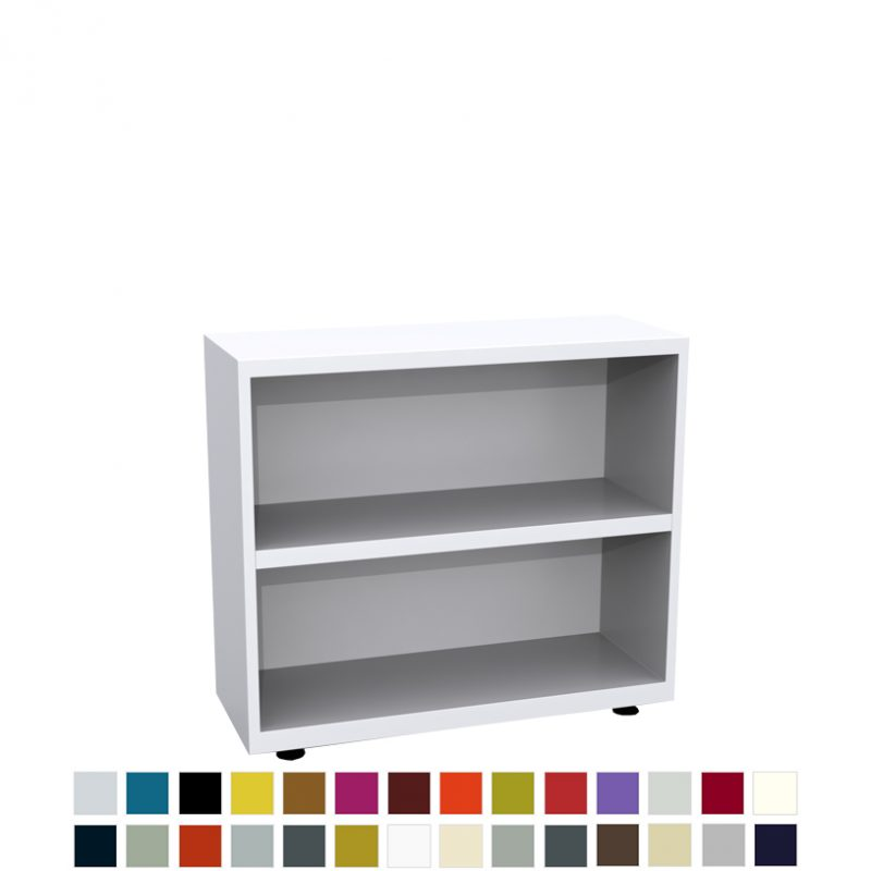 White bookcase with 2 shelves