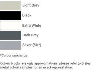 Bisley essentials tambour shutter colour palette