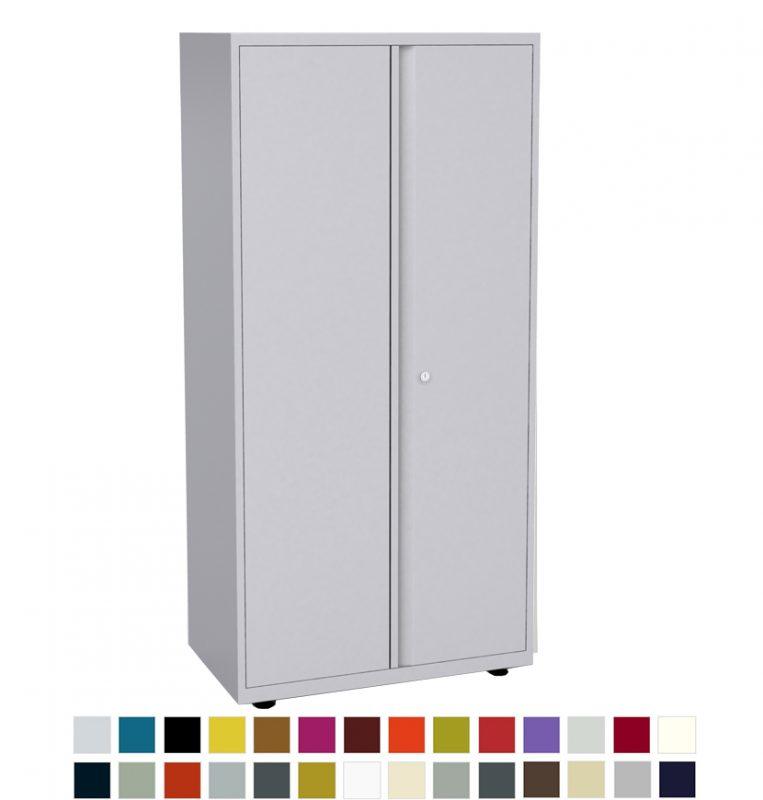Tall white storage cupboard