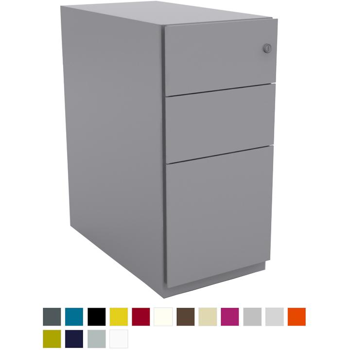 Dark grey pedestal storage