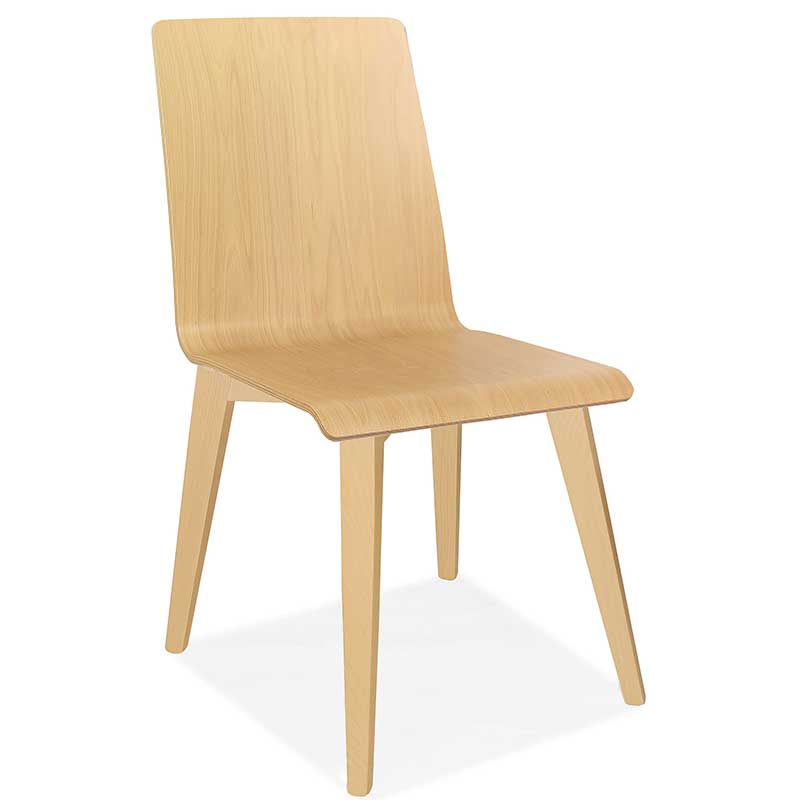Wooden chair with wooden legs
