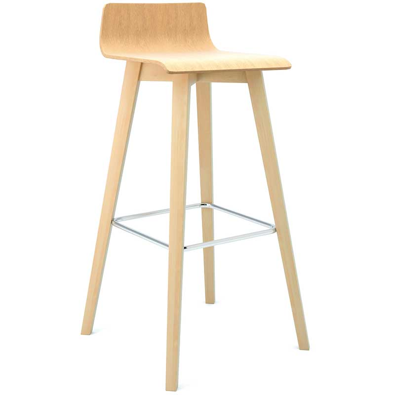 Tall wooden bistro stool
