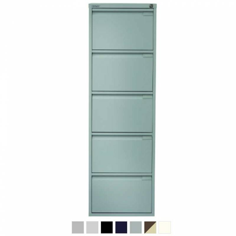 5 drawer pale blue filing cabinet
