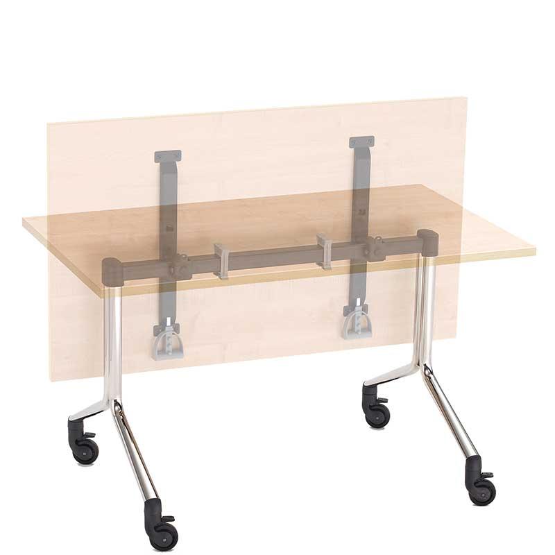 Flip top meeting table