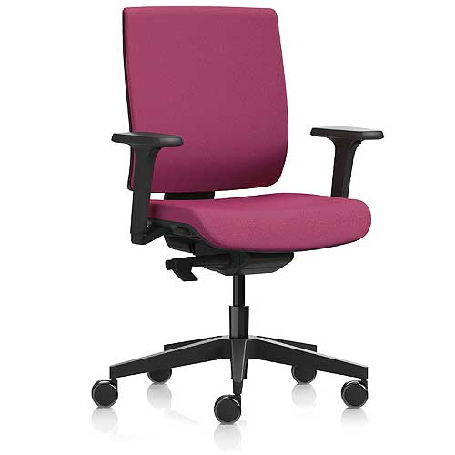 Kind task chair with adjustable arms