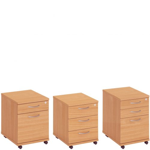 Wheeled pedestal storage