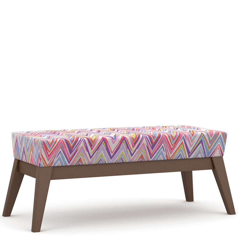 Patterned bench seating