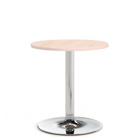 Small circular coffee table with chrome leg