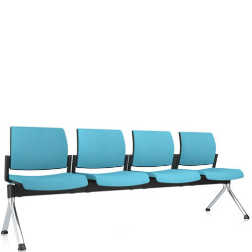 Blue four seater beam seating