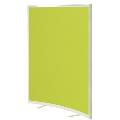 Lime green curved floor screen